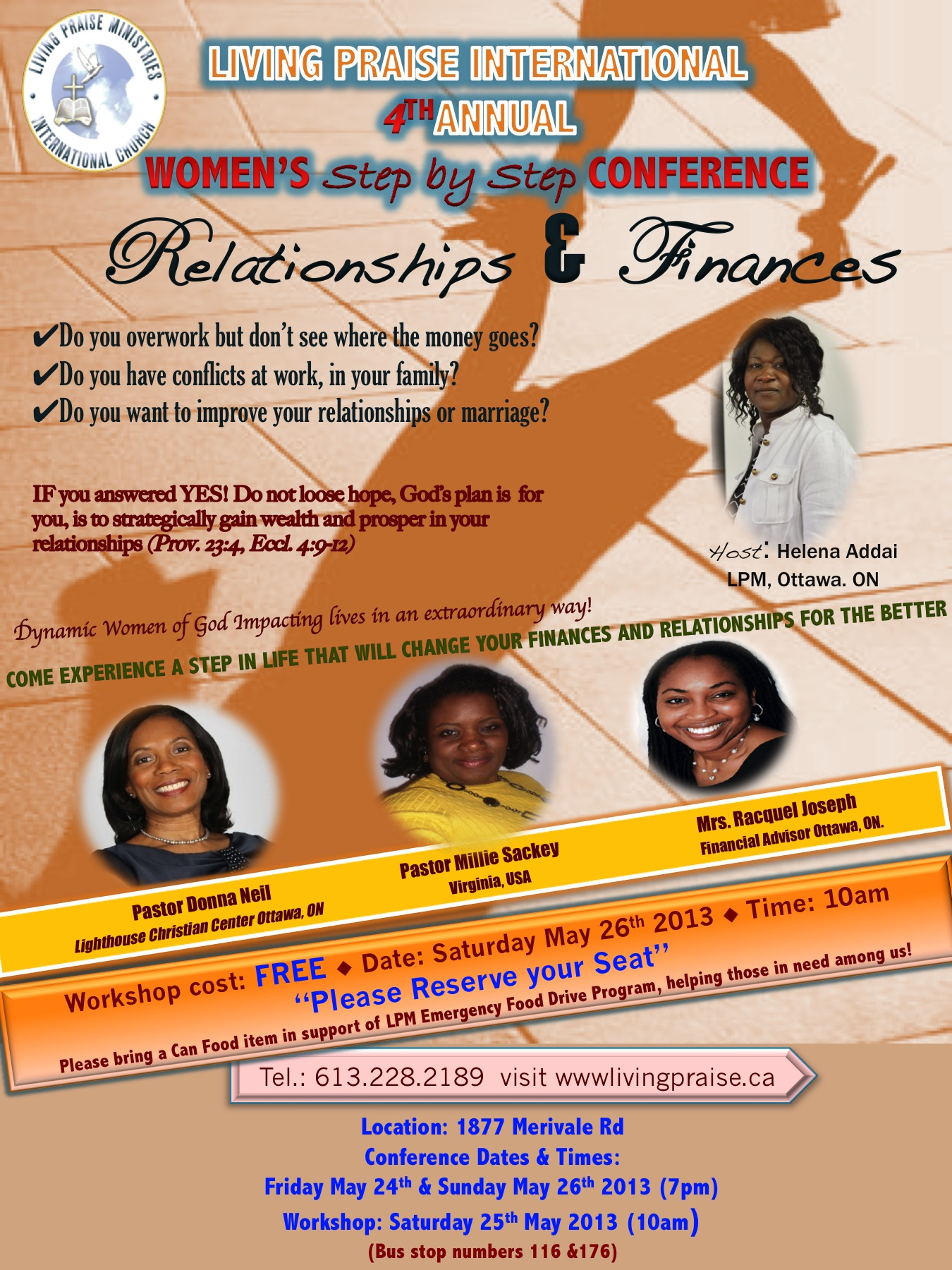"""Donna Neil Speaks at 4th Annual """"Step by Step Women's Conference"""" Workshop"""